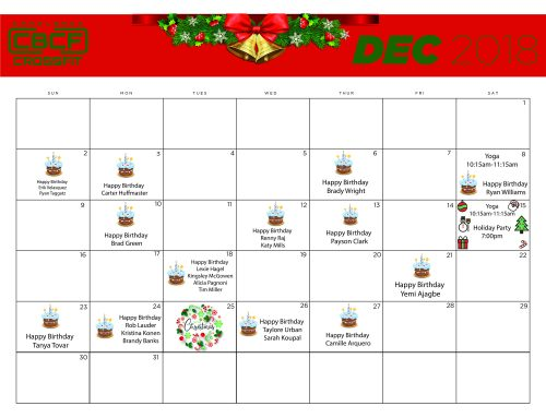 December '18 | Calendar